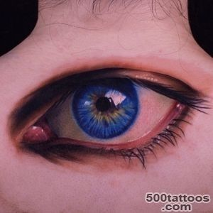 John Anderton  super realistic blue eye tattoo  Respectable _49