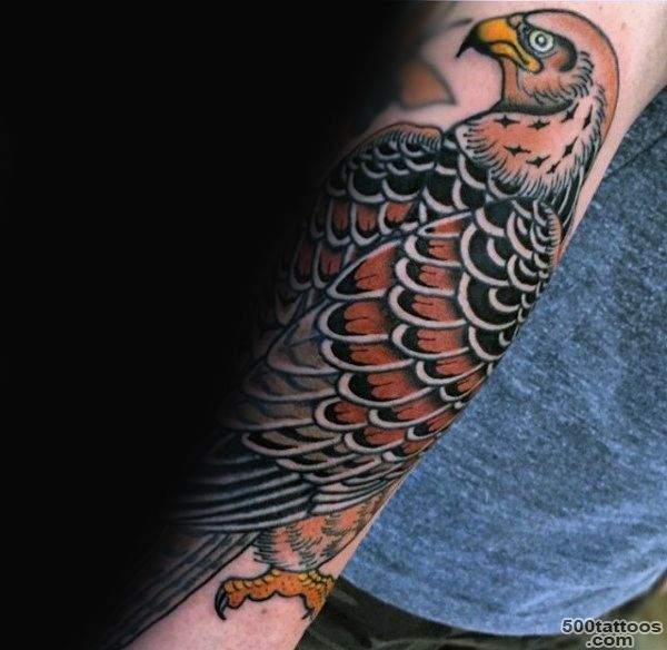 90 Falcon Tattoo Designs For Men   Winged Ink Ideas_48