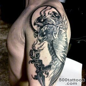 90 Falcon Tattoo Designs For Men   Winged Ink Ideas_39