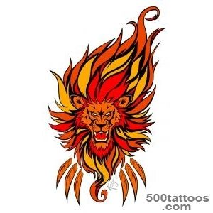 Fire Lion Tattoo Design  Tattoobitecom_36