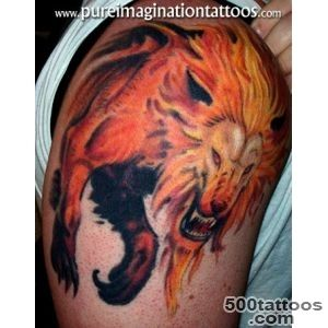 Fire Lion Tattoo Design  Tattoobitecom_45