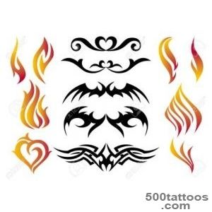 Fire Tattoo Set, Vector Royalty Free Cliparts, Vectors, And Stock _5