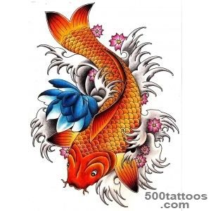 Fish tattoo designs ideas meanings images for Blue and orange koi fish