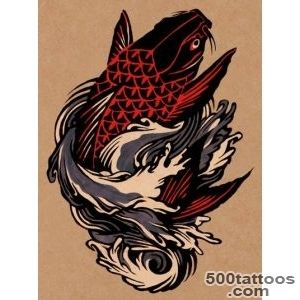 30 Koi Fish Tattoo Designs with Meanings_5