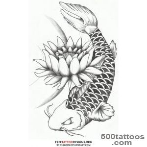40 Koi Fish Tattoos  Japanese And Chinese Designs_45