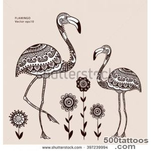 15+ Tribal Flamingo Tattoos_19