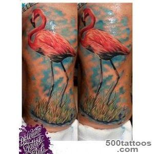 Realistic Side Flamingo Tattoo by Delirium Tattoo_12