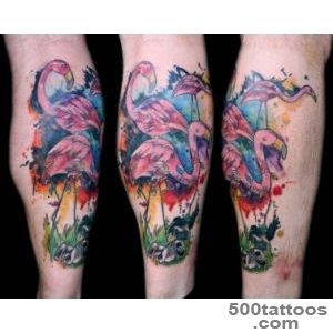 watercolor lawn flamingo tattoo  I tattoo at Tattoo Boogalo…  Flickr_47