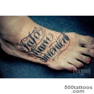 50 Awesome Foot Tattoo Designs  Art and Design_20