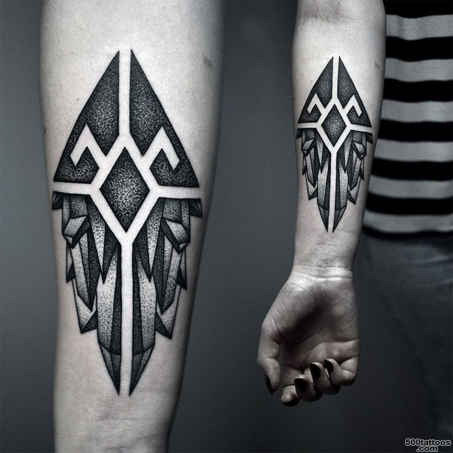 Forearm Crystals Tattoo  Best tattoo ideas amp designs_31