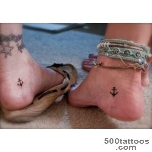 Friendship Tattoo On Heel_44