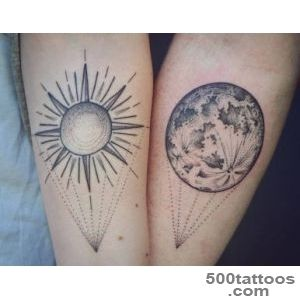 Sun and Moon Friendship Tattoos  Venice Tattoo Art Designs_30