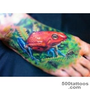 Cute Tree Frog Tattoo On Arm Sleeve_25