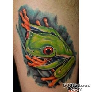 Watercolor tree frog tattoo   Tattooimagesbiz_48