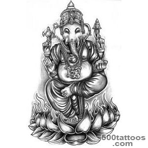 28+ Ganesha On Lotus Tattoo_12