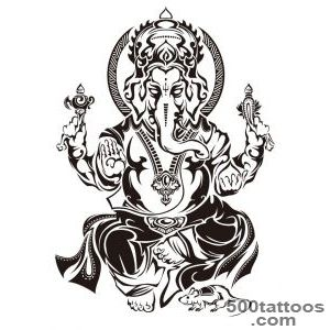 Black And Grey Dancing Ganesha Tattoo On Forearm_38