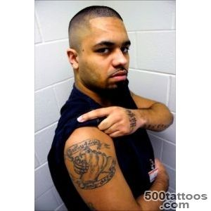 Prison inmate with gang tattoo, NETA Never Ever Toteratate Abuse _45
