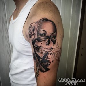 25 Risky and Ascetic Gangster Tattoo Designs_9