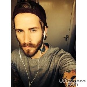 gay tattoos tattoo boy bear man Alternative sleeve beard homo fag _11