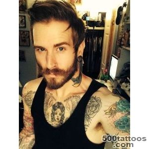 hair gay tattoos tattoo bear sleeve beard homo fag neck tattoo _44
