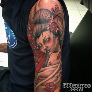 50 Japanese Geisha Tattoo Meaning and Designs_5