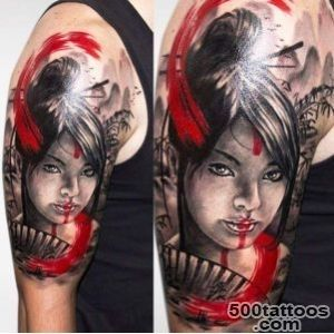 Geisha Tattoo Motive_35