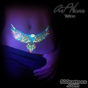 UV Fluorescent Fluo Eagles   ArtWear Tattoo_32