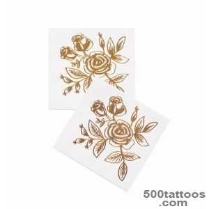 Gold Floral Temporary Tattoos by RIFLE PAPER Co  Made in USA_44