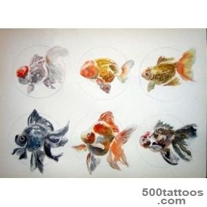 Pin Watercolor Goldfish Tattoo Original Art on Pinterest_46