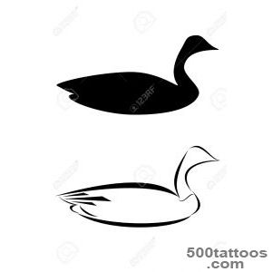 A Tribal Canadian Goose Tattoo Royalty Free Cliparts, Vectors, And _5