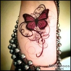 Temporary tattoo gothic tattoo butterfly tattoo swirls deep reds _30