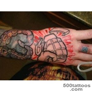 25 Grenade Tattoos   Meanings, Photos, Designs for men and women_33