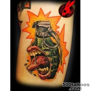 DeviantArt More Like Heart Grenade Cover Up Tattoo by Jackie _40