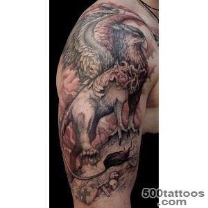 14 Gorgeous Griffin Tattoo Design Ideas_12