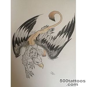 DeviantArt More Like Griffin tattoo commission by simisketches_26