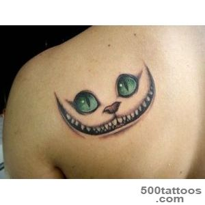 26 Staggering Cheshire Cat Tattoo Ideas_4