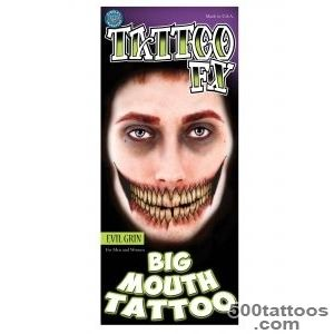 Evil Grin Temporary Big Mouth Tattoo Kit_15