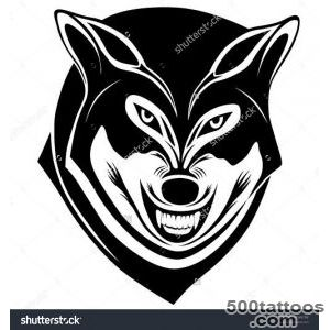 Wolf With A Grin In The Form Of A Tattoo Stock Vector Illustration _32
