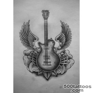 11 Beautiful Guitar Tattoo Design And Ideas_20