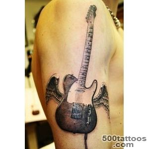55 Guitar Tattoo Designs and Ideas for Men and Women_49