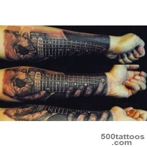 65 Guitar Tattoos For Men   Acoustic And Electric Designs_2