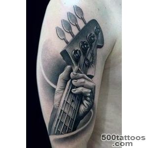65 Guitar Tattoos For Men   Acoustic And Electric Designs_14