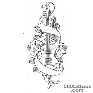 1000+ ideas about Guitar Tattoo on Pinterest  Tattoos, Music _1