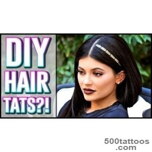 DIY Kylie Jenner Hair Tattoo Hack!   YouTube_26