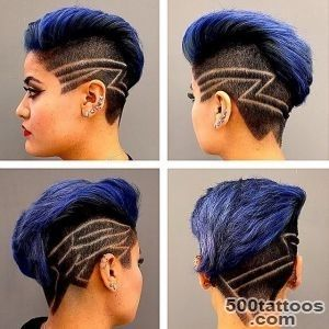 Stylish hair tattoos for girls!_25