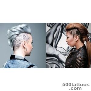 Trendy hair tattoos and designs! Images and Video tutorials!_23