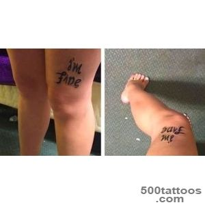 I#39m fine Save me  The tattoo that shows two sides of mental _40