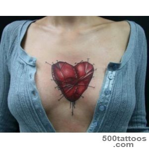 100 Delightful Heart Tattoos Designs For Your Love_12