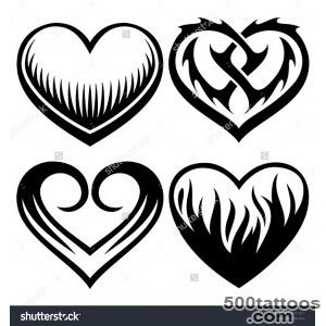 Heart Tattoo Stock Vectors amp Vector Clip Art  Shutterstock_7