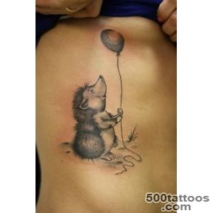 Beautiful color ink hedgehog tattoo on upper arm   Tattooimagesbiz_30